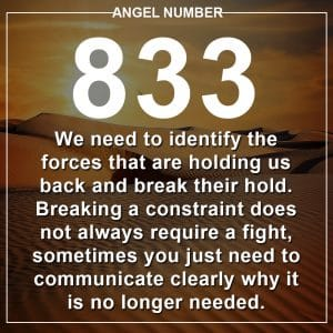 Angel Number 833 Meanings
