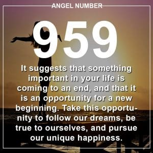 Angel Number 959 Meanings