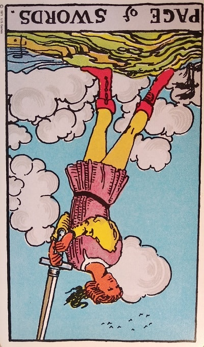 Reversed Page of Swords Tarot Card Meaning – Minor Arcana
