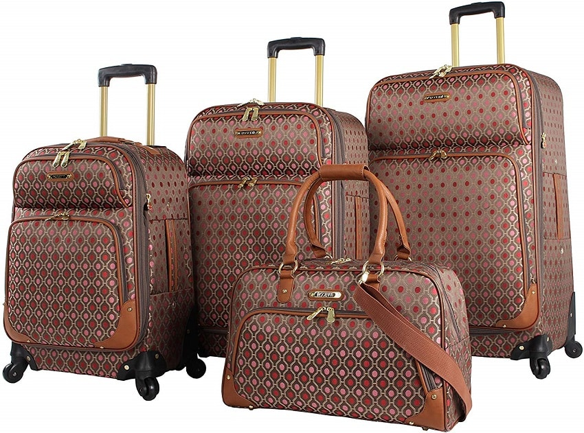 Rosetti Lighten Up Luggage Set 4 Piece Expandable Softside Suitcase With Spinner Wheels