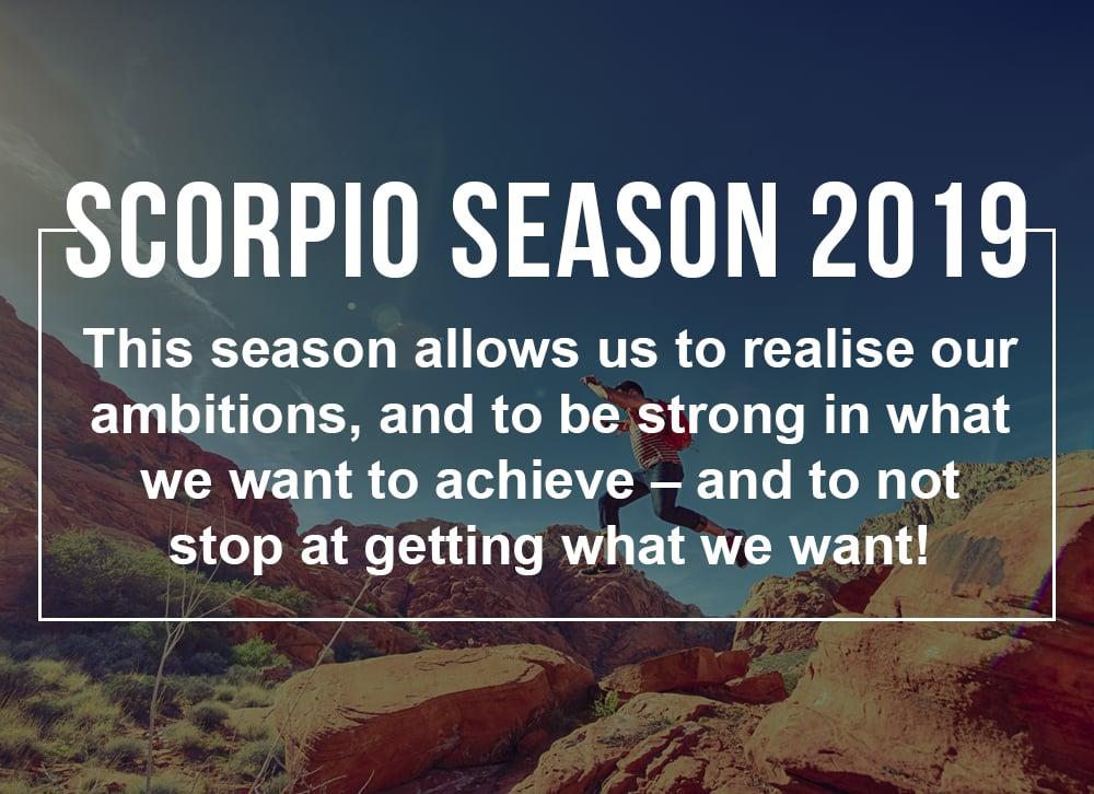 Scorpio Season 2019