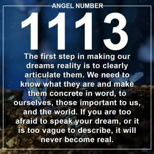 Angel Number 1113 Meanings