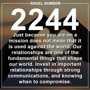 Angel Number 2244 Meanings