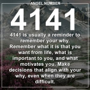 Angel Number 4141 Meanings