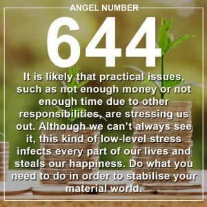Angel Number 644 Meanings