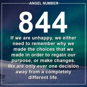 Angel Number 844 Meanings