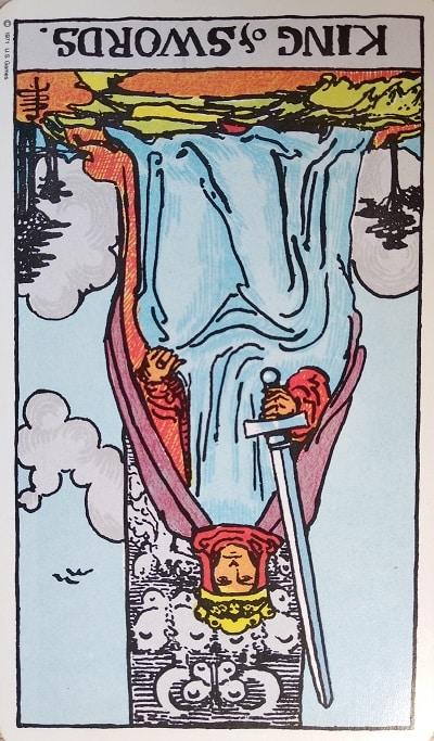 Reversed King of Swords Tarot Card Meaning – Minor Arcana