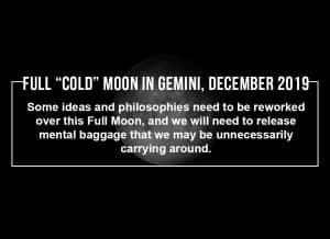Full Cold Moon in Gemini December 2019