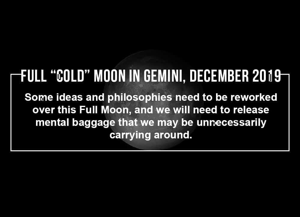 Full Cold Moon in Gemini December 2019