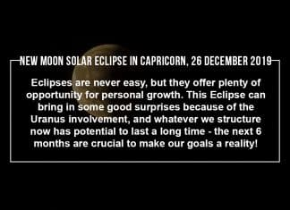 Make the Most of the New Moon Solar Eclipse in Capricorn, 26 December 2019