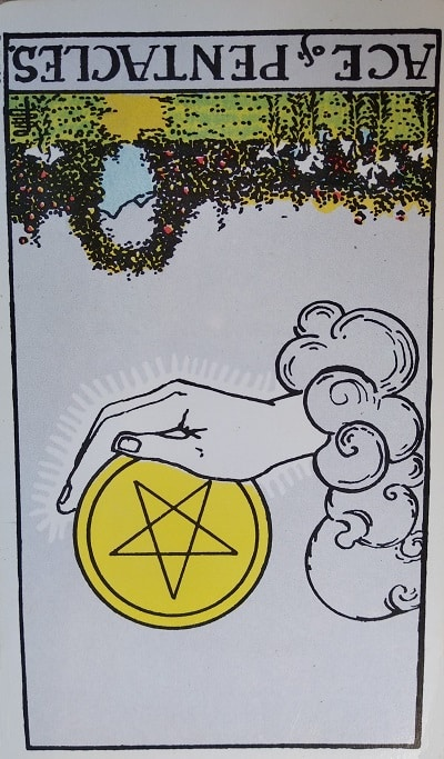 Reversed Ace of Pentacles Tarot Card Meaning – Minor Arcana