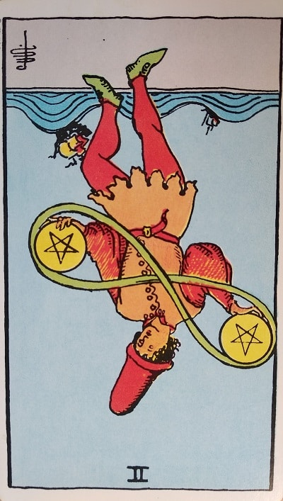 Reversed Two of Pentacles Tarot Card Meaning – Minor Arcana