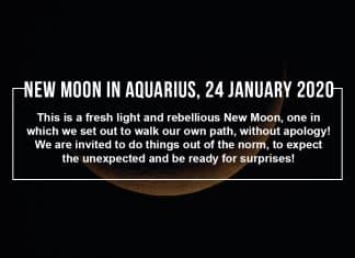 New Moon in Aquarius 24 January 2020