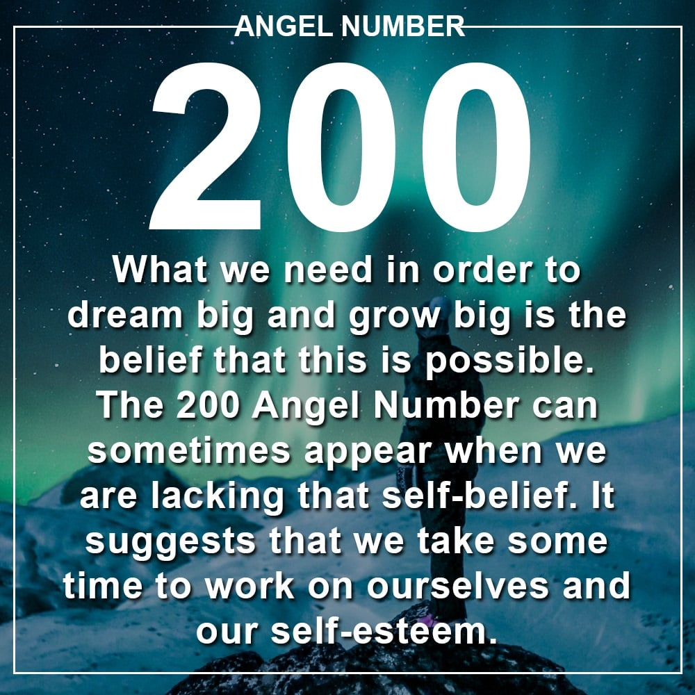 Angel Number 200 Meanings