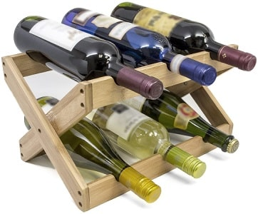 Fold-able wine rack