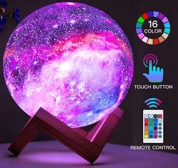 Galaxy bedroom lamp