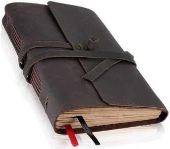 Genuine leather journal for men