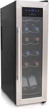 Nutrichef 12 Bottle Compressor Cooler Refrigerator