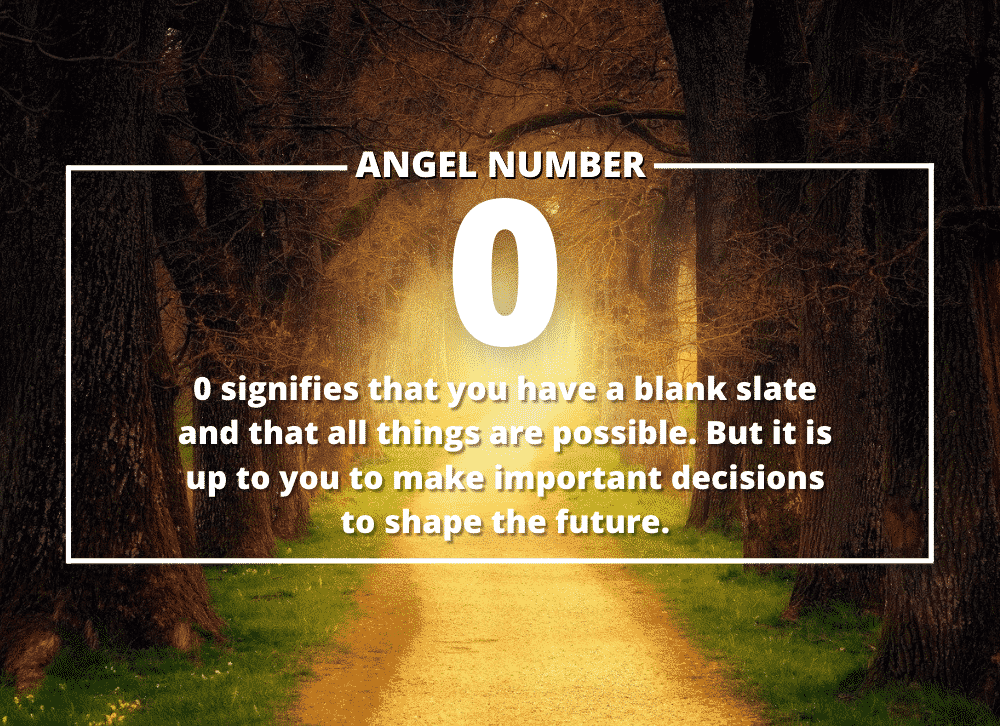 Angel Number 0 Meanings