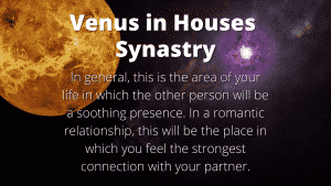 Venus in Houses Synastry Meanings 1st through 12th House