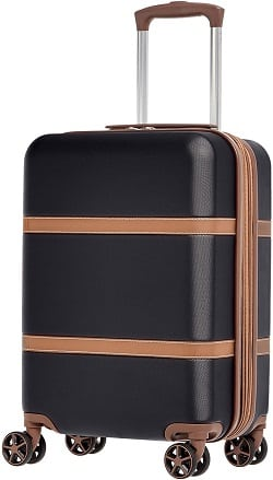 AmazonBasics Vienna Expandable Carry-On Luggage Spinner Suitcase