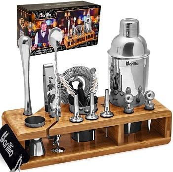 Elite 23-Piece Bartender Kit Cocktail Shaker Set