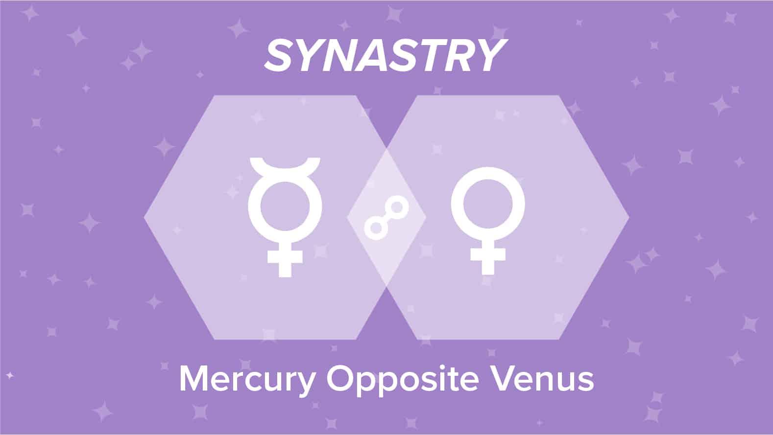 Mercury Opposite Venus Synastry