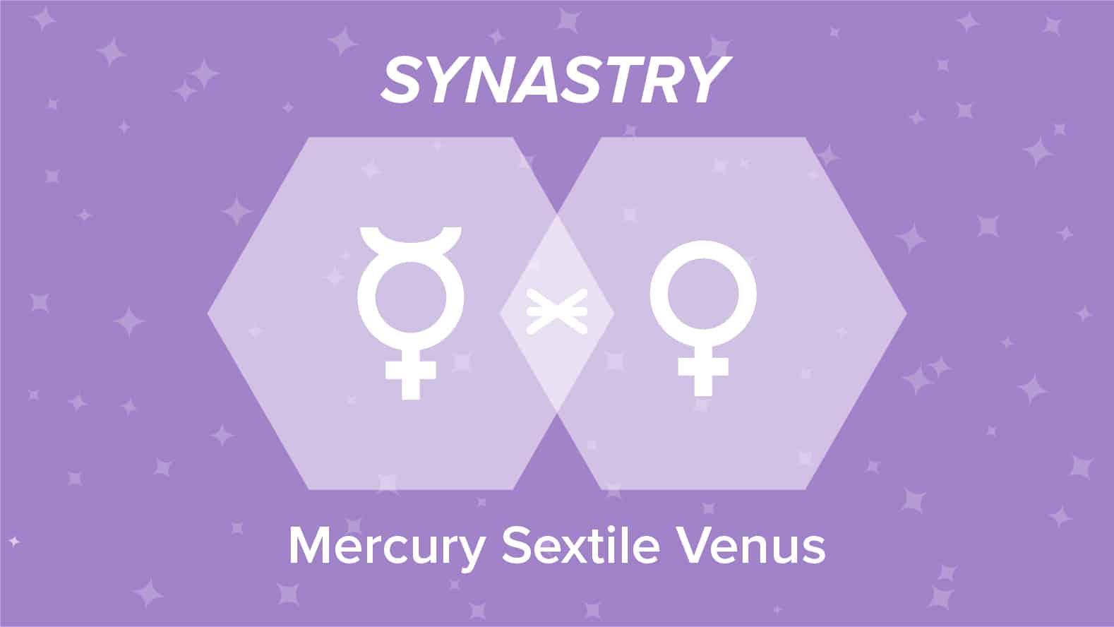 Mercury Sextile Venus Synastry