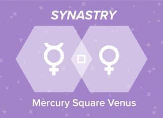 Mercury Square Venus Synastry