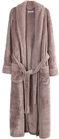 Plush Soft Warm Fleece Bathrobe Robe