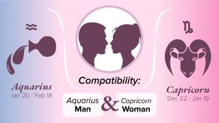 Aquarius Man and Capricorn Woman Compatibility