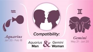 Aquarius Man and Gemini Woman Compatibility