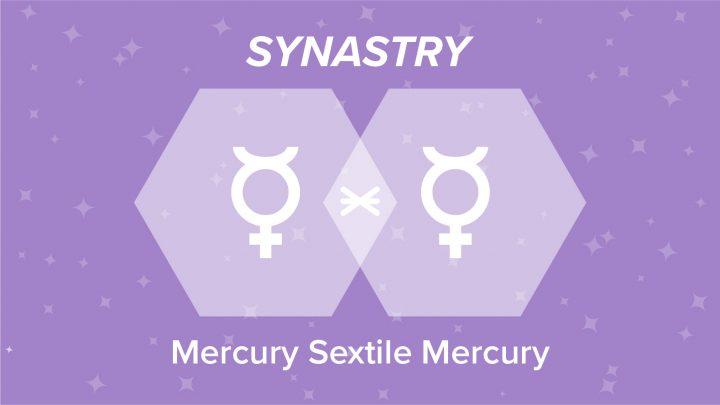 Mercury Sextile Mercury Synastry