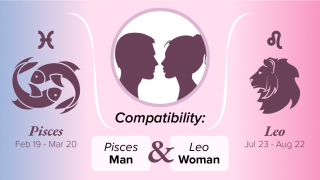 Pisces Man and Leo Woman Compatibility