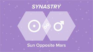 Sun Opposite Mars Synastry