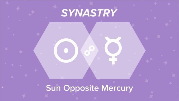 Sun Opposite Mercury Synastry