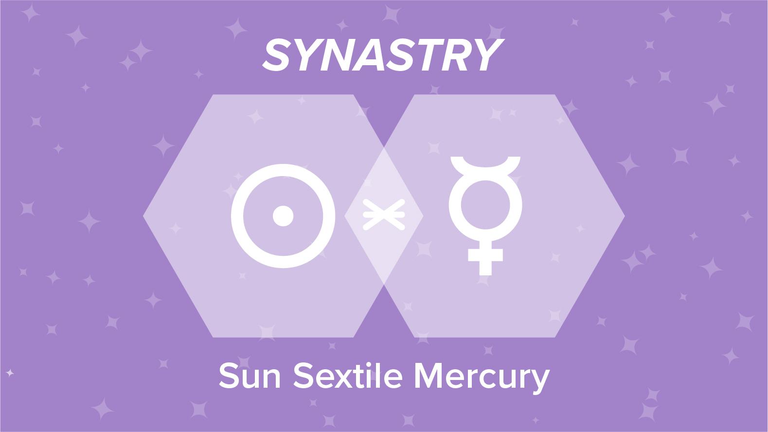 Sun Sextile Mercury Synastry