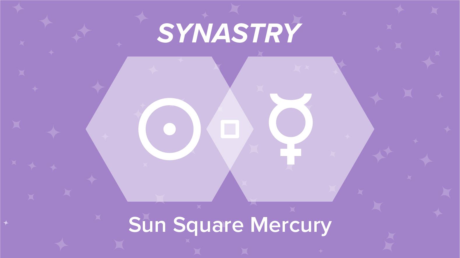 Sun Square Mercury Synastry